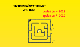 Davidson/Winnwood Math Resources