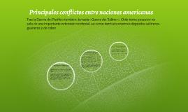 Principales conflictos entre naciones americanas