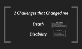Christ empowered dealing with Death and Disability