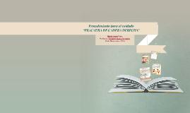 """Procedimiento para el cuidado""""FRACTURA DE CADERA DERECHA"""""""