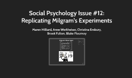 Social Psychology Issue #12: