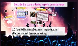 Describe the scene entering a sports or music venue