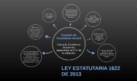 LEY ESTATUTARIA 1622 DE 2013