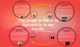 The power to fail or succeed is in our hands.