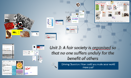 Copy of Unit 3: A fair society is organised so that no one suffers un