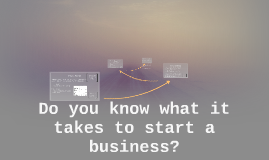 Do you know what it takes to start a business?