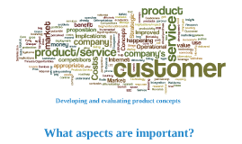 Developing Concepts - Proposition Evaluation Criteria