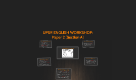 UPSR ENGLISH WORKSHOP: Paper 2 (Section A)