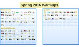 Spring 2016 Warmups
