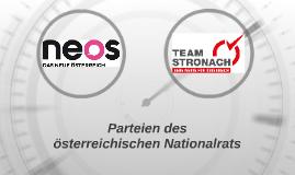 Parteien des österreichischen Nationalrats