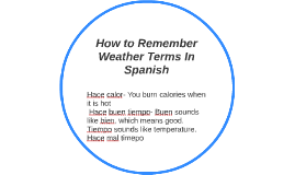 How to Remember Weather Terms
