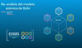 Re-análisis del modlelo atomico de Bohr