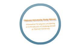 Copy of Clemson University Study Abroad