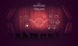 PA System CX80-1002