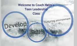 Welcome to Teen Leadership