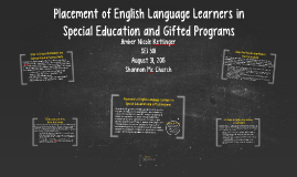 Placement of English Language Learners in