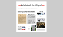 DBQ: What Ideals of the Declaration are MOST Important?
