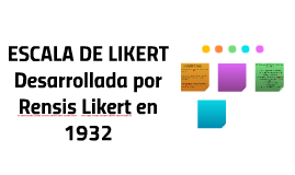 ESCALA DE LIKERTDesarrollada por Rensis Likert en 1932