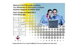 Postgrado en Didactica Universitaria ISBA