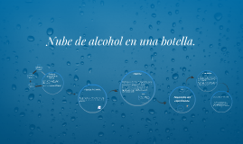 Copy of Nube de alcohol en una botella.