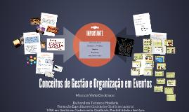 Conceitos de Gestão e Organização em Eventos