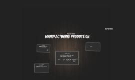 Manufacturing Protuction