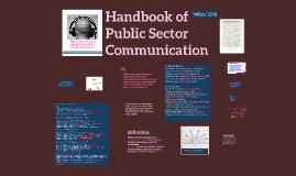 Handbook of Public Sector Communication