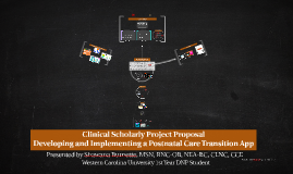 Clinical Scholarly Project Proposal
