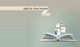 Avid Site Team Meeting