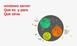 windows server Que es  y para Que sirve