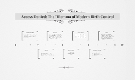 Access Denied: The Dilemma of Modern Birth Control