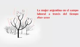 La mujer argentina en el campo laboral