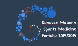 Donovan's Sports Medicine Portfolio