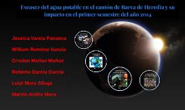Escasez del agua potable en el cantón de Barva de Heredia y su impacto en el primer semestre del año 2014