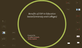 Copy of Benefits of ERP in Education Sector(University and Colleges)