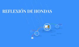 REFLEXIÓN DE HONDAS