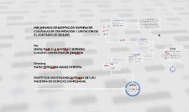 MECANISMOS DE ACEPTACIÓN EXPRESA DE CLÁUSULAS DE DELIMITACIÓ