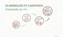 ELABORAÇÃO DE CARDÁPIOS