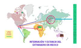 INTERNACIÓN Y ESTANCIA DEL EXTRANJERO EN MEXICO