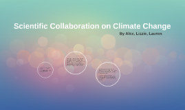 Scientific Collaboration on Climate Change