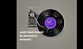 junk food should be banned in schools?