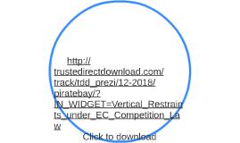 Vertical Restraints under EC Competition Law free Download torrent