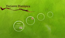 Variante Diatópica