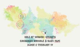 Role of women -shari'a