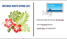 Copy of Matador Nights Volunteer Training 2015
