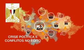 CONFLITOS E CRISE POLÍTICA NO EGITO