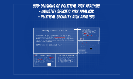 Sub-divisions of Political Risk Analysis