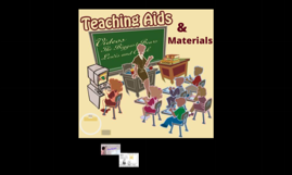 Teaching aids, materials, the board and designing visuals