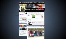DISCRIMINACIÓN EN MÉXICO 1920-2010
