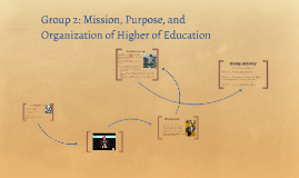 Group 2: Mission, Purpose, and Organization of Higher of Edu